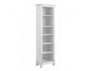 Шкаф для книг-00 Рауна (белый воск)