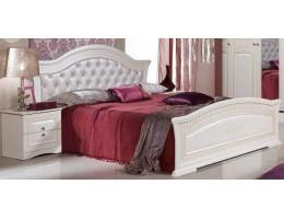 Кровать двуспальная 160 с мягким изголовьем Венера бежевый