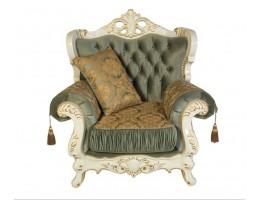 Кресло Эсмеральда, белый нефрит