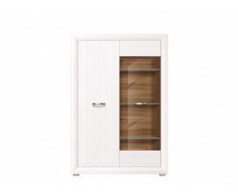 Шкаф в гостиную B136-REG1W1D MALTA, лиственница сибирская/орех лион