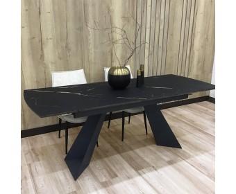 Стол Купер 160 Темный дуб, керамика / черный каркас